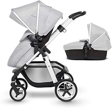 Silver Cross Pioneer Fully Adjustable 2-In-1 Baby Pram and Pushchair – Platinum