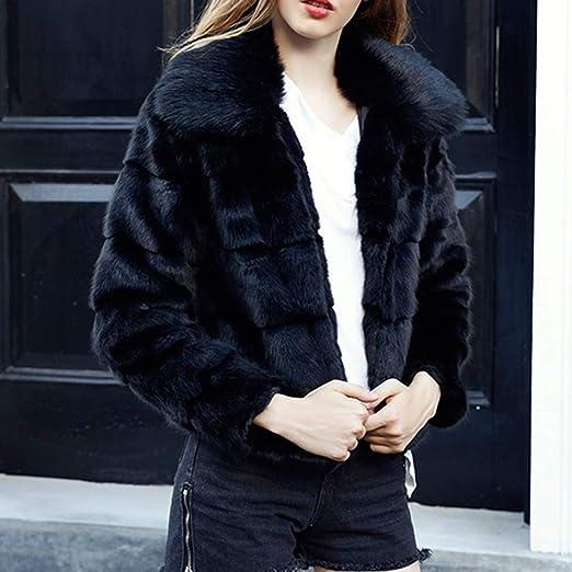 Women Jacket Outwear Lapel Solid Color Plush Fashion Coat at Amazon Womens Coats Shop