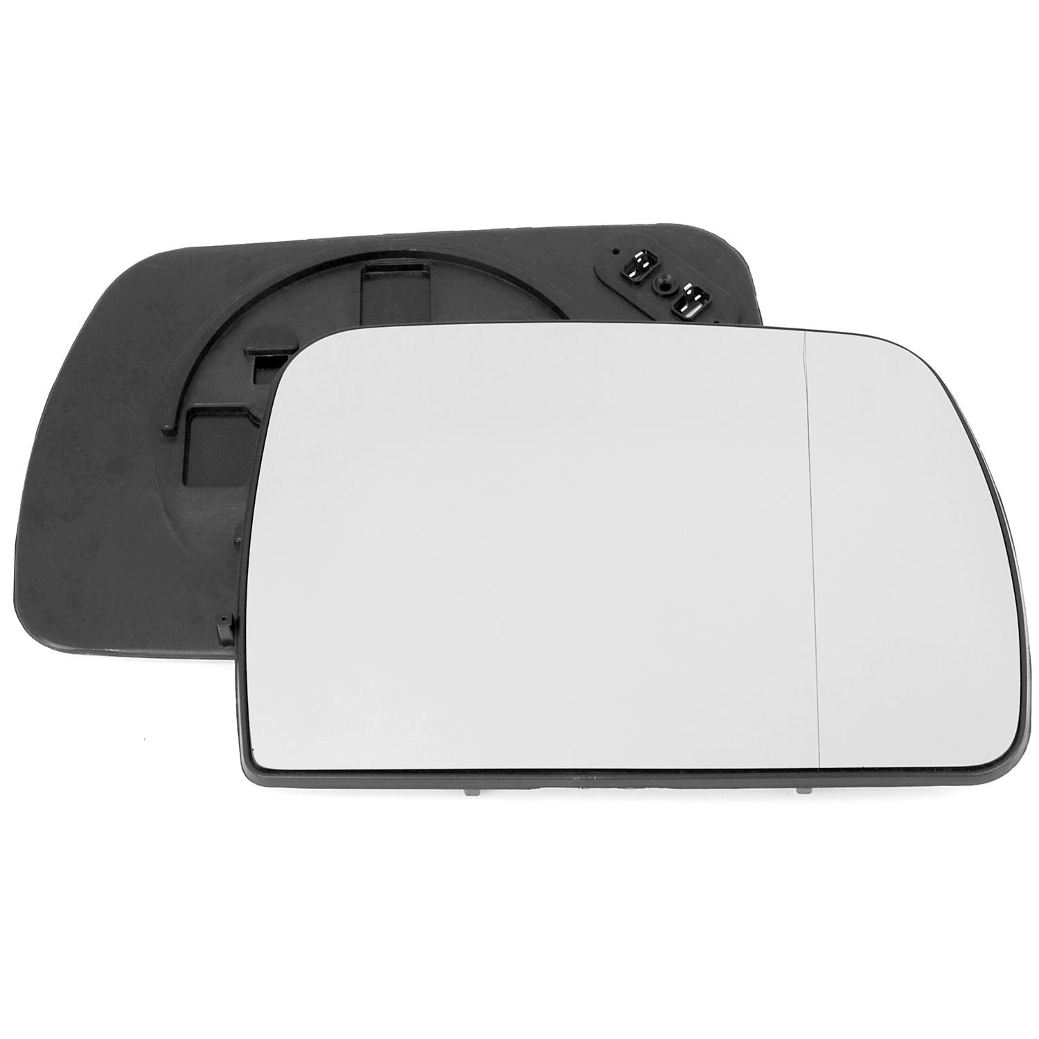 Driver right hand side wing door mirror wide angle glass heated with backing plate