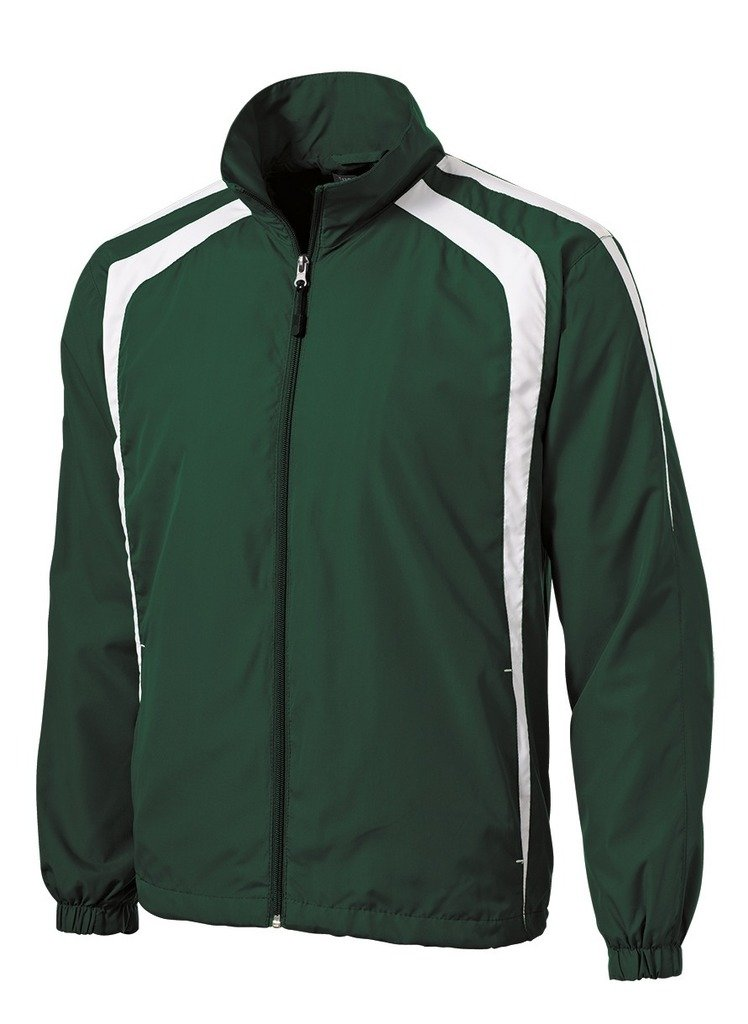 Joe's USA tm Colorblock Full Zip Raglan Jacket-Green/White-3XL by Joe's USA