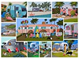 vintage puzzle - Vintage Retro Trailers Jigsaw Puzzle - 1000 Piece - Bright, Cheerful , Fun Puzzle for Kids & Adults featuring Campers & Travel Trailers by Hennessy Puzzles - Original Hand-Painted Artwork - Limited quantity