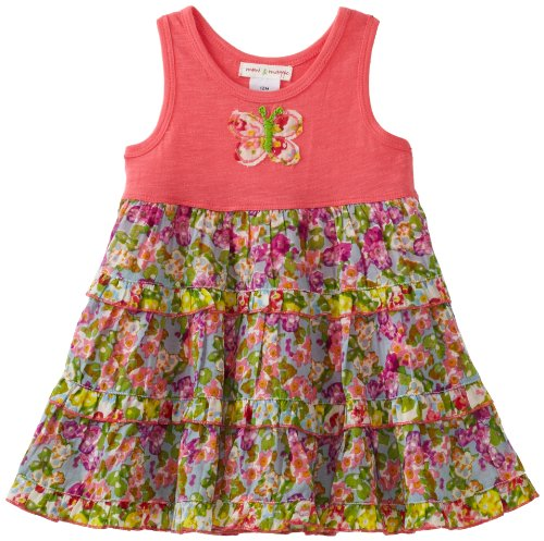 Mimi & Maggie Baby-girls Infant  Springtime Romper Dress, Multi, 3-6 Months