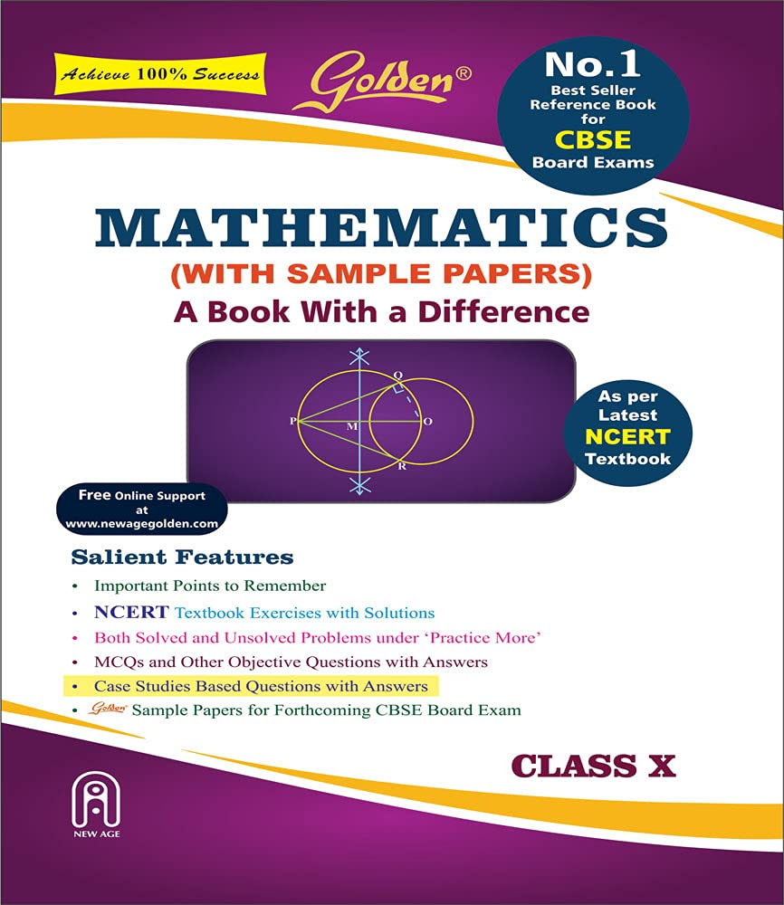 Golden Mathematics: (With Sample Papers) A book with a Difference for Class-10 (For CBSE 2022 Board Exams)