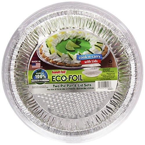 Cook-N-Carry Pie Pans w/ Lids, 2 - Aluminum Crust