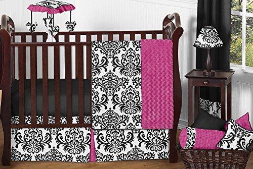 Hot Pink Black Diaper Bags - 9