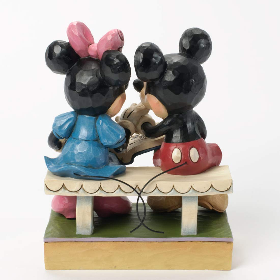 Disney Traditions by Jim Shore 85th Anniversary Mickey and Minnie Mouse Stone Resin Figurine, 6.5
