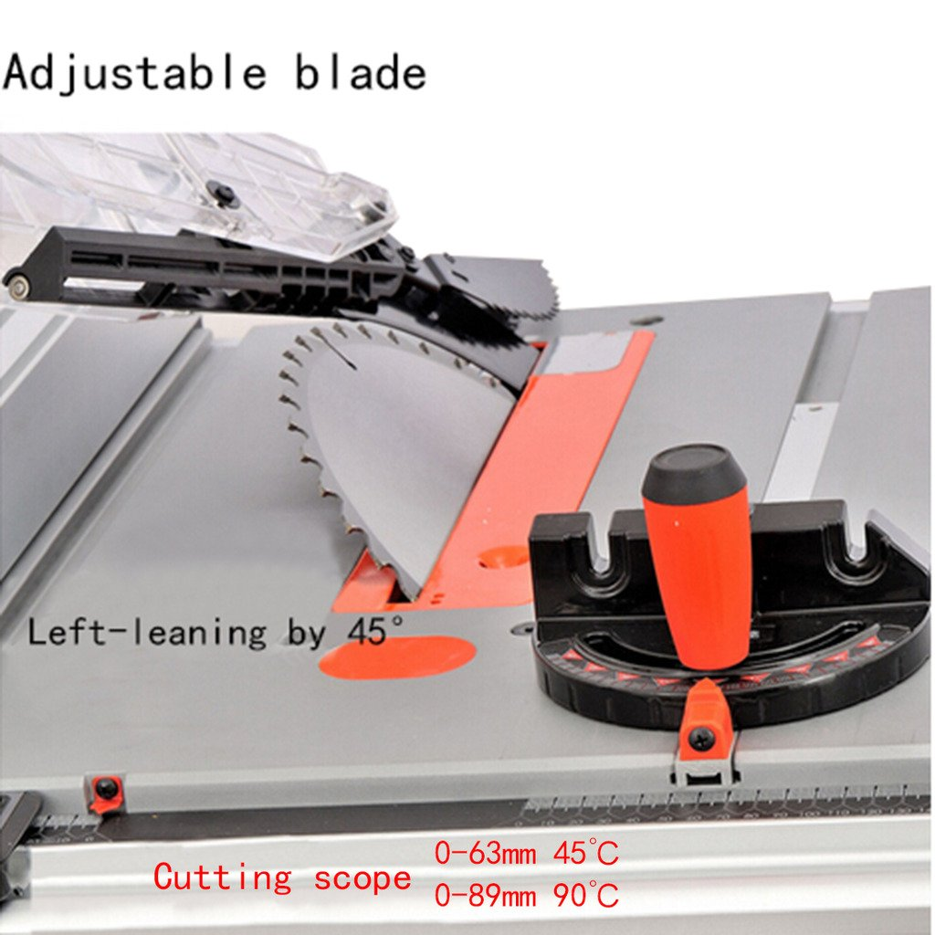 Wotefusi Industrial New 110V 1800W 10 inch Blade Woodwork Bench Top Saw Sawing Cutting Cutter Tool Machine Portable Table Folding Stand by Wotefusi (Image #4)