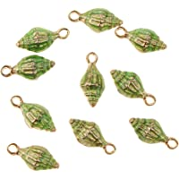 HOMYL 10 Pieces Star Fish Conch Shape Sea Animal Lovely Charms Pendant Beading Small Beads for Earring Necklace Findings