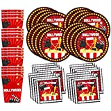 Hollywood Movie Night Birthday Party Supplies Set Plates Napkins Cups Tableware Kit for 16