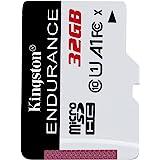 Kingston High Endurance 32GB MicroSD SDHC Flash Memory Card High Performance, 1080P, Full HD, Up to 95MB/S Read, (SDCE/32GB)