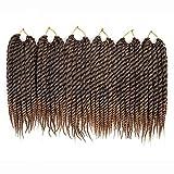 Mirra's Mirror Havana Mambo Twist Crochet Ombre Braiding HairBraiding Hair Senegalese Twist Hair 6Packs 12inch 12Roots/Pack (12inch, T1B/27)