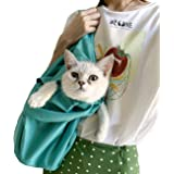 WEONE Pet Dog Cat Carrier Sling Waterproof Pet Carrier Outdoor Portable Foldable and Washable Shoulder Cats &Dogs Travel…