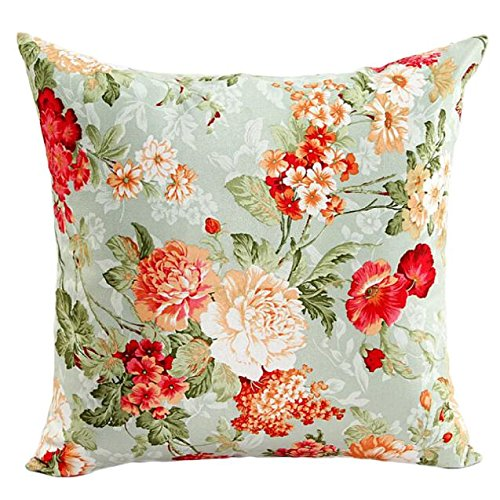 Duseedik Beautiful Flowers Sofa Bed Home Decor Pillow Case Cushion Cover