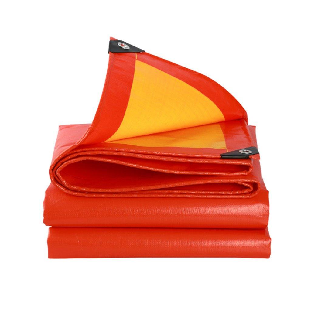 3M4M  LYN BÂche Orange épaisse bÂche de Pluie BÂche de Prougeection en Plastique imperméable de bÂche de Prougeection Solaire de bÂche en Plastique de Pluie