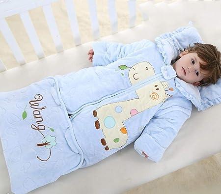 WTFYSYN Saco de Dormir Polar de bebé,Saco de Dormir cálido para bebés, Acolchado de algodón para niños y niñas de 0-1-2-3-6 años, edredón antipatadas en Invierno-5_0-4 años: Amazon.es: Hogar
