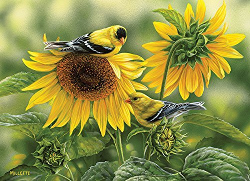 Sunflowers and Goldfinches by Cobble Hill