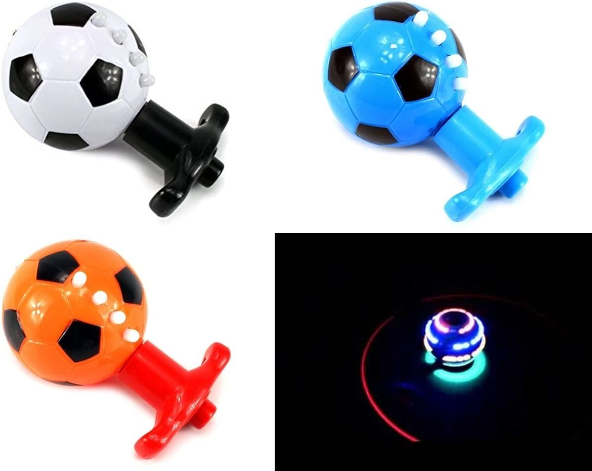 - Assorted Colour Spin Top Soccer Ball Sound & Light Toys Gift Kids