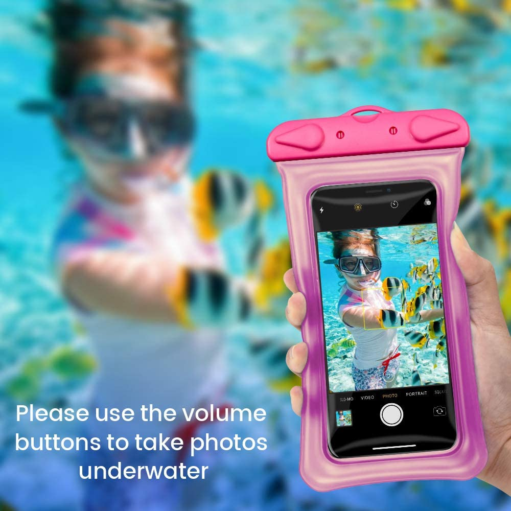 2 Pack Cambond Floatable Waterproof Phone Pouch Water Proof Cell Phone Case for iPhone 11//Xs Max//XR//X//8//8P//7 Galaxy up to 6.5 Lanyard Dry Bag Waterproof Case for Snorkeling Beach Kayaking Travel