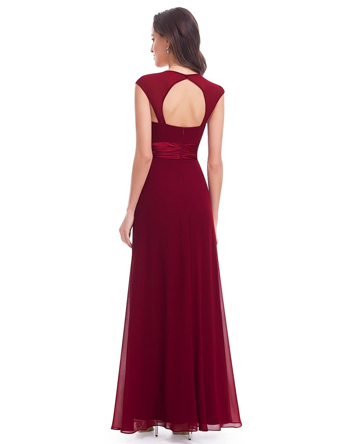 866a75f67ae53 Ever-Pretty Chiffon Sexy V-neck Ruched Empire Line Evening Dress 09672 at  Amazon Women s Clothing store