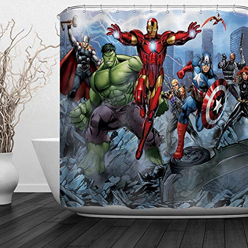 Super Hero Shower Curtain