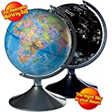 Toys : Interactive Globe for Kids, 2 in 1, Day View World Globe and Night View Illuminated Constellation Map