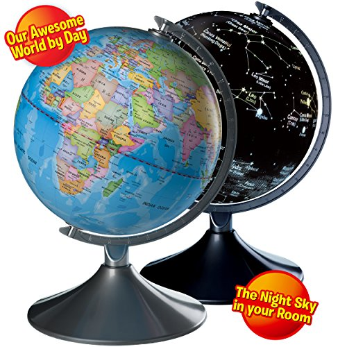 Interactive world map amazon interactive globe for kids 2 in 1 day view world globe and night view illuminated constellation map gumiabroncs Image collections
