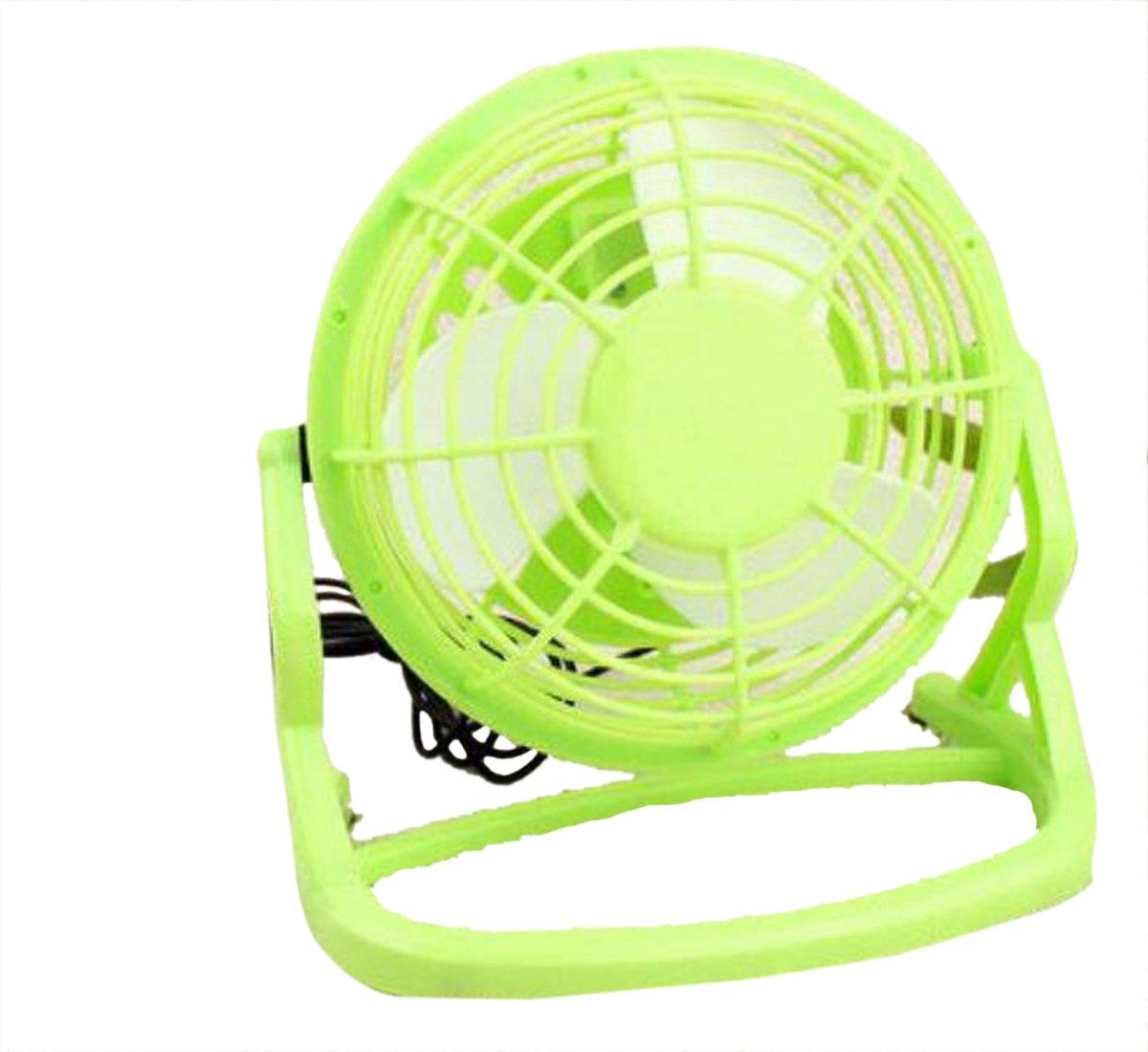 Sweatwater Portable Table Office 4 inch Desktop Home Mini USB School 360 Degree Rotation Fan Green One-Size