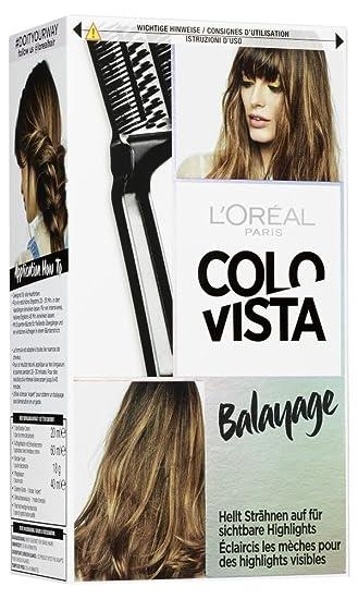Loréal Paris Colovista Bleach Kit Balayage Hellt Strähnen Auf Für Softe Highlights Im Haar Mit Schonender Anti Haarbruch Formel Doityourway