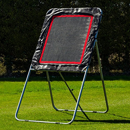Lacrosse Rebounder Net – Adjustable Angle Bounce Back Rebound Trainer, Up Your Game And Train Like The Pros! [Net World Sports]