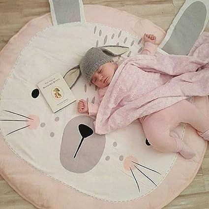 Round Baby Nursery Rug Kids Play Mat Portable Toy Storage Bag Fox Mat Carpet JI