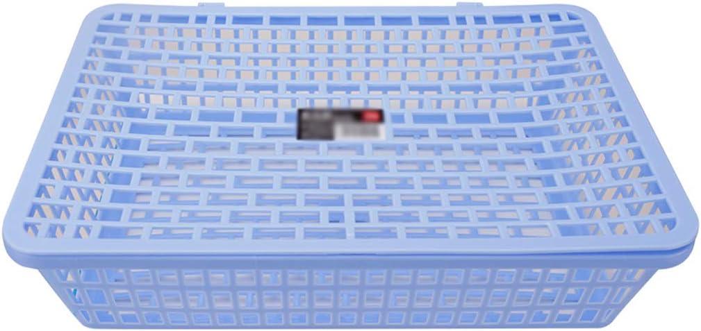 Archivadores y Portafolletos De Pared Estante para archivos, maleta de oficina, cesta de archivo, maletín de plástico, caja de archivo, colección, cesta, caja de almacenamiento, azul, 36 * 26 * 9cm So