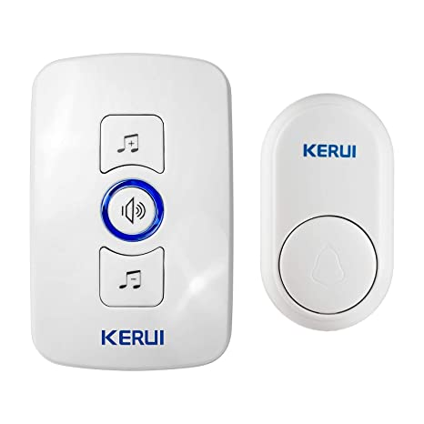Kerui Wireless Welcome Entry Door Chime Basic Door Alarm For Home/Business, 150M Range/32 Melodies/4 Level Volume/LED Flash With Water-Proof ...