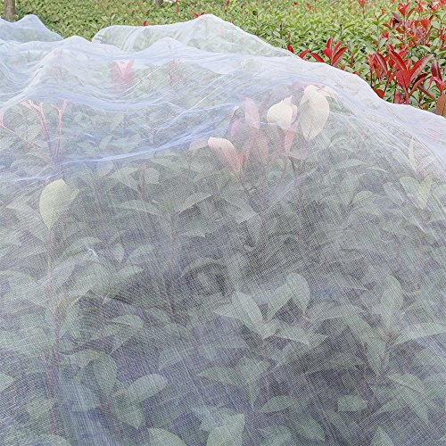 Agfabric Standard Insect Screen & Garden Netting against Bugs, Birds & Squirrels - 16'x10' of Mesh Netting, White (Bug Garden Netting)