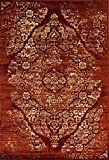 Persian-Rugs 4620 Distressed Burgundy Rust 8x10 Area Rug Carpet Large New