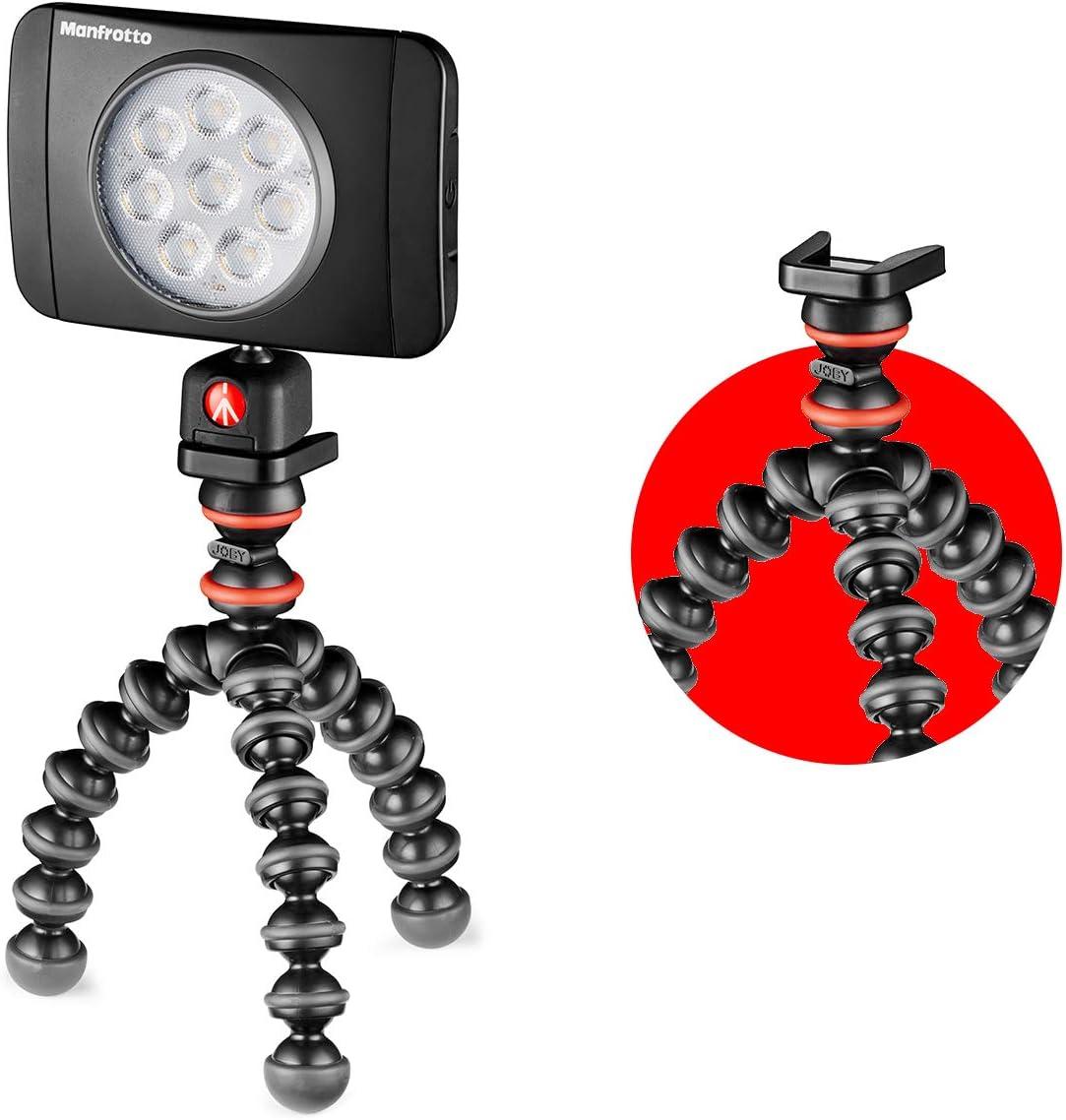 JOBY JB01505-BWW GorillaPod 325 flexibles Ministativ mit integriertem Kugelkopf f/ür kompakte und 360-Grad-Kameras, Traglast bis zu 325/g