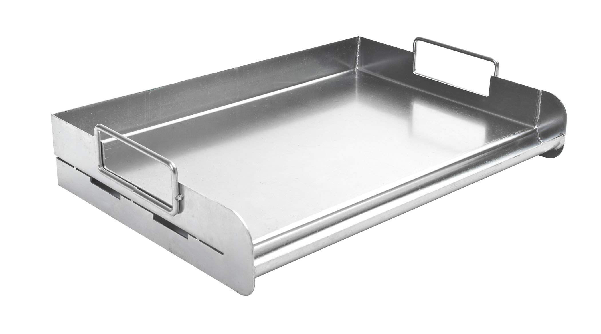 Charcoal Companion CC3500 Stainless Steel Pro Grill Griddle (Renewed)