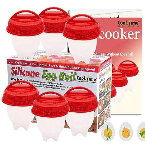 Amazon.com: Hueveras de silicona para huevos duros, como se ...