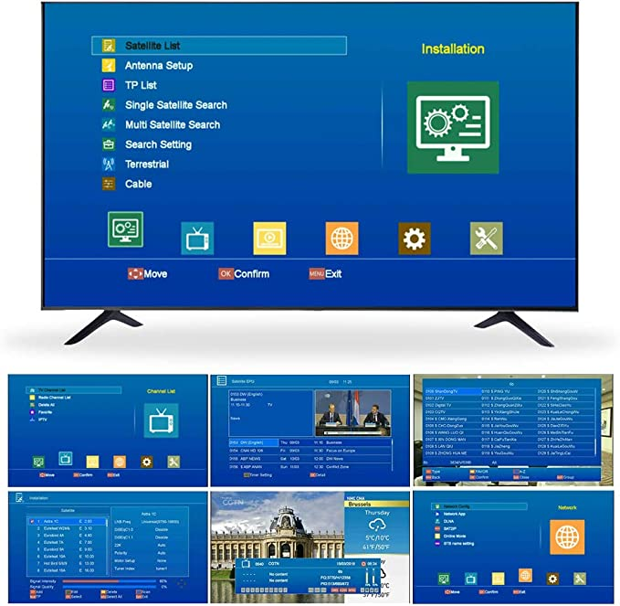 GT MEDIA V8 PRO2 Decodificador Satélite Receptor TDT de TV por Terrestre DVB-S/S2/S2X DVB-T/T2 DVB-Cable WiFi Ethernet 1080P Full HD H.265 HEVC: Amazon.es: Electrónica