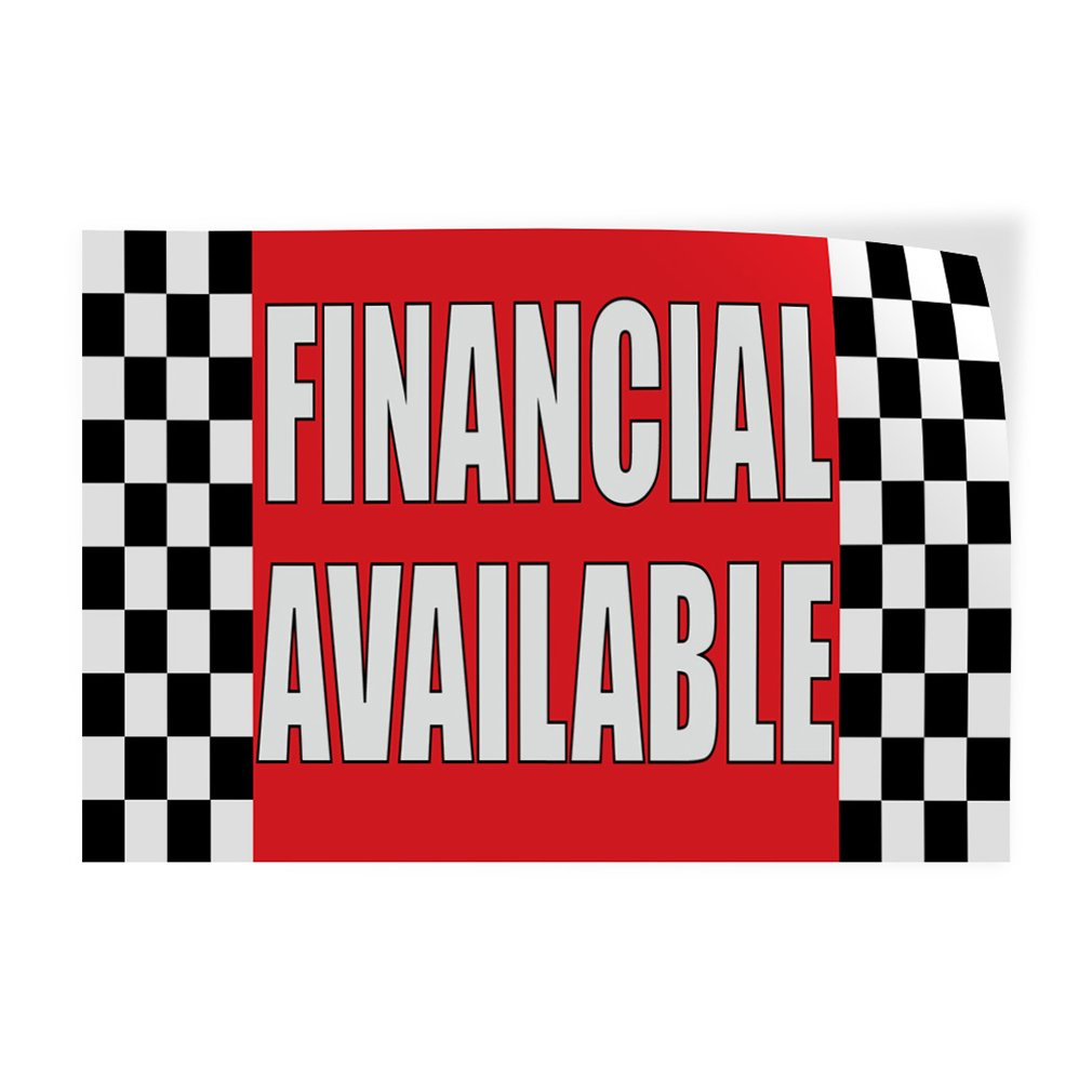 14inx10in Set of 10 Decal Sticker Multiple Sizes Financial Available #1 Business Finance Outdoor Store Sign Red
