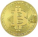 Bitcoin Moneda Conmemorativa de Colección Modelo One Color Oro con Cápsula Protectora de Acrílico.
