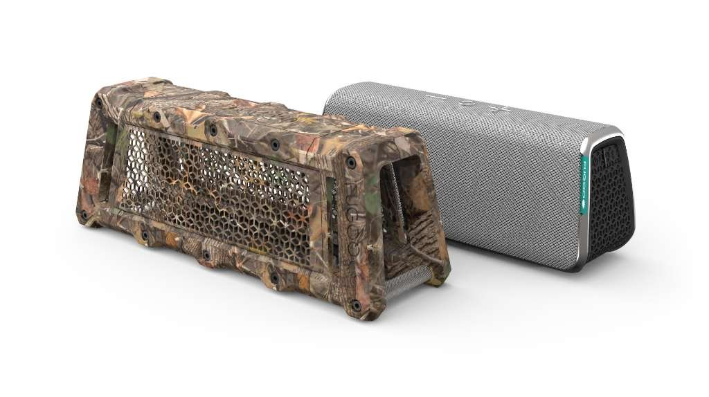 Fugoo Tough Camo Edition Bluetooth Speaker & Jacket Case Set - Portable Surround Sound Speakerphones w/ Custom Reinforced Cover - Waterproof Water-Resistant by Fugoo