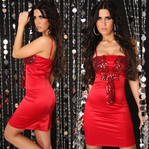 italy gownplanet - Robe - Doudoune - Sans manche - Femme Rouge Rouge 40