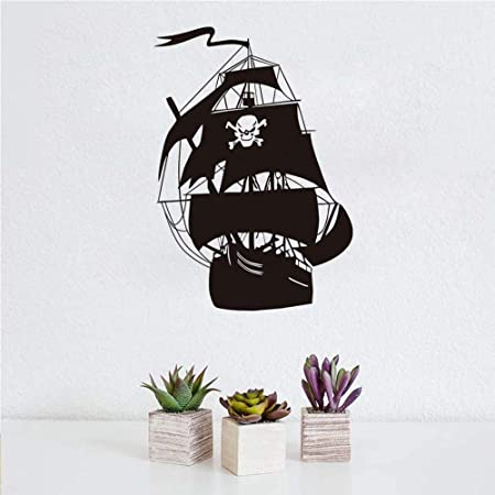 Etiqueta De La Pared Barco Pirata Pegatinas De Pared Sala De Estar ...