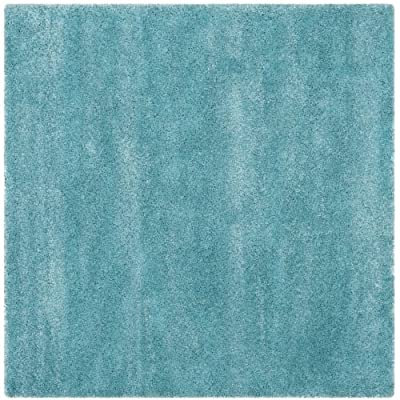 Safavieh SG180-7SQ Shag 7' Square Synthetic Power Loomed Solid Area Rug,