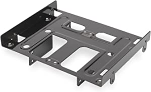 """Ewent ew7002Bracket Adapter for 4Bay 2.5""""or 1HDD 3.5"""" + 2HDD/SSD 2.5""""HDD/SSD PC Slot, 5.25, Screws Included, Black"""