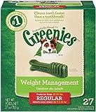GREENIES Weight Management Dental Regular Dog Treats - Treat TUB-PAK Package 27 oz. 27 Treats