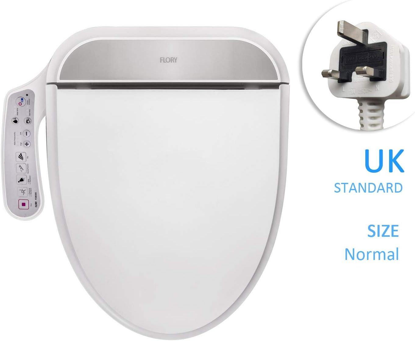 FLORY EU Bidé eléctrico digital inteligente WC Asiento UKSTANDARD FDB300 Energysaving Tecnología, EcoFriendly, Calentador de Agua del asiento, cálido y seco,