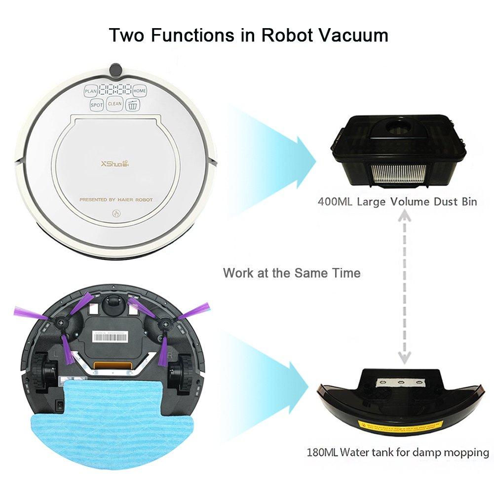 Xshuai - Potente robot aspirador con receptor de infrarrojos y ...