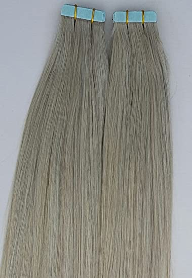 Amazon 18 inches 100grs 40pcs human tape in pastel hair 18 inches 100grs40pcs human tape in pastel hair extensions ash silver gray pmusecretfo Images