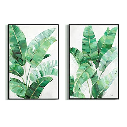 Amazon Com Crescent Art Large Framed Abstract Tropical Summer Green